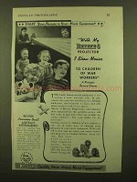 1943 Revere Movie Equpment Ad - Children of War Workers