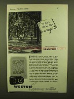 1943 Weston Exposure Meter Ad - Picture Treasures