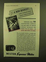 1943 Weston Exposure Meter Ad - Every Owner Should have