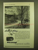 1943 Weston Exposure Meter Ad - Autumn's Foliage