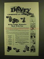1929 DeVry Cameras and Projectors Ad - Moving Picture