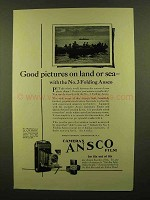 1923 Ansco No.3 Folding Ansco Camera Ad - Land or Sea