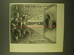 1913 H.C. White Radioptican Ad - Family Groups Parties