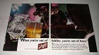 1966 Schlitz Beer Ad - When You're Out