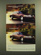 1998 Lincoln Town Car Ad - A Dilemma for Accountant