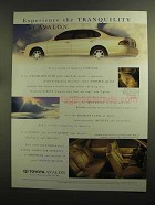 1995 Toyota Avalon Ad - Experience Tranquility
