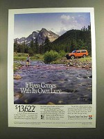 1993 Jeep Cherokee Ad - Comes With Its Own Lure