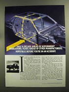 1992 Volvo Cars Ad - Half Decade Ahead of Regulations