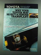 1987 Toyota Parts and Service Ad - Reject a Fender