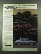 1985 Saab Car Ad - It Can Be Very Convincing