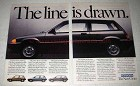 1984 Honda Civic Hatchback Ad - The Line is Drawn