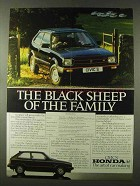 1982 Honda Civic S Ad - The Black Sheep of the Family