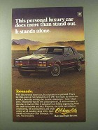 1983 Oldsmobile Toronado Ad - Does More Than Stand Out