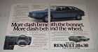 1981 Renault 20TX and 30TX Cars Ad - More Dash