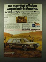 1980 Mercury Zephyr Wagon Ad - Most Fuel-Efficient