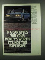 1980 Volvo GLE Ad - Gives You Your Money's Worth