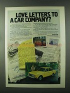 1979 Volvo Car Ad - Love Letters To a Car Company?