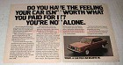 1978 Volvo Cars Ad - Your Car Isn't Worth