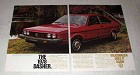 1978 Volkswagen VW Dasher Car Ad - Does it Again