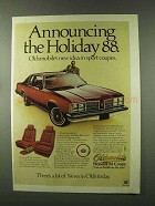 1978 Oldsmobile Holiday 88 Coupe Car Ad