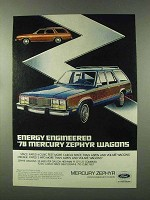 1978 Mercury Zephyr Wagons Ad - Energy Engineered