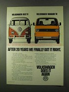 1981 Volkswagen Vanagon Ad - After 20 Years Got Right