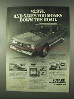 1977 Subaru Cars Ad - Saves You Money Down the Road