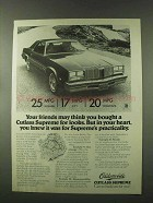 1977 Oldsmobile Cutlass Supreme Ad - Your Friends