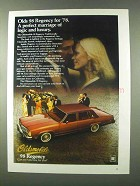 1978 Oldsmobile 98 Regency Ad - Perfect Marriage