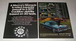 1977 Mercury Marquis Ad - Rated Superior to Cadillac