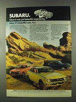 1973 Subaru Cars Ad - Once Just Beautiful Engineering