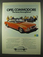 1973 Opel Commodore Ad - The Classic Thoroughbred