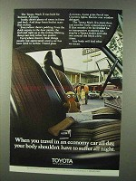 1971 Toyota Mark II Car Ad - Body Shouldn't Suffer