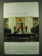 1965 Lincoln Continental Ad - Distinction of Arriving