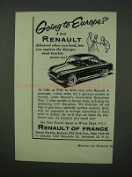 1957 Renault Dauphine Ad - Going To Europe?