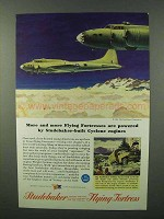 1943 Studebaker Boeing Flying Fortress Ad - Cyclone