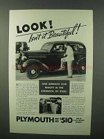 1935 Plymouth Car Ad - Look Isn't It Beautiful!