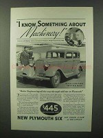1933 Plymouth De Luxe 4-Door Sedan Ad - Machinery