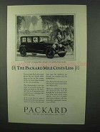1926 Packard Six Five-Passenger Sedan Ad - Costs Less