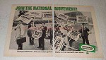1966 National Car Rental Ad - Join the Movement