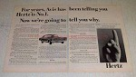 1966 Hertz Rent-a-car Ad - Avis Telling You Hertz No. 1