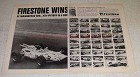 1966 Firestone Tires Ad - Graham Hill, Indy Winners