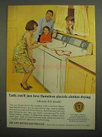 1966 Edison Electric Institute Ad - Clothes Drying