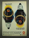 1966 AC Spark Plugs Ad - Drivers Know Which End's Up