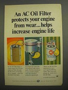 1966 AC Oil Filters Ad - Protects Engine From Wear