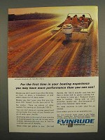 1966 Evinrude 100-S Outboard Motor Ad - For First Time