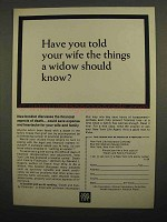 1966 New York Life Ad - Have You Told Your Wife