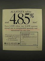 1966 Allstate Savings and Loan Association Ad - Safety