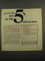 1966 Allstate Savings and Loan Association Ad - Full 5%