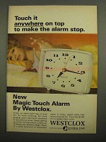 1966 Westclox Magic Touch Alarm Clock Ad - Touch It
